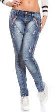 Koucla Damen-Jeans aus Denim mit mittlerer Bundhöhe