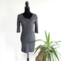 Country Road Grey Wool Blend Fitted 3/4 Sleeve Women's Size M Dress