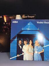 ABBA 2 vinyl records LPs Voles-Vous and Super Trouper original 1979-80