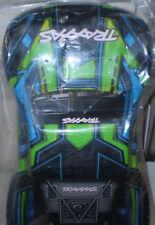Traxxas 6844X Body, Slash 4X4, Green and Blue (Painted, Decals Applied) New 1/10