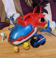 Paw Patrol Plane & Small Mixed Figure Bundle Robo Dog Marshall Rubble Chase