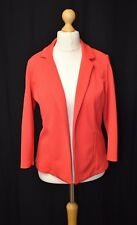 Ladies Papaya Matalan Size 14 Red Textured Waffle Polyester Casual Blazer Jacket