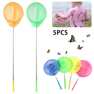 5pcs Kescher Kinderkescher Strandkescher Kinder Schmetterlingsnetz Spielzeug DE