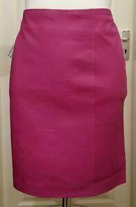 "NEW Cigno Nero DANA Leather Skirt - Amethyst - Size 36 (30"" Waist)"