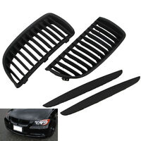 Front Kidney Grill Grilles For BMW E90 E91 Saloon 05-08 325i 328i 335i 4D Black