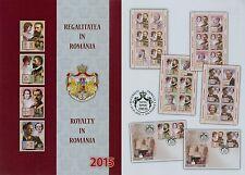 Rumänien 2015 Königtum,Könige,Hohenzollern Mi.6922-25,Zf. I+II,KB,Block 614,FDC