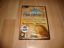FINAL FANTASY 11 XI ONLINE VANA'DIEL COLLECTION SQUARE ENIX PC NUEVO PRECINTADO