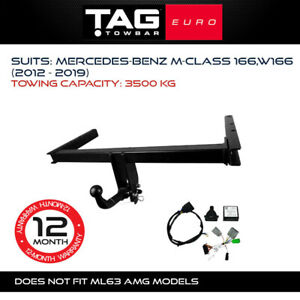 TAG Euro Towbar Fits Mercedes Benz M-Class 2012-2019 Towing Capacity 3500Kg 4x4