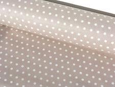 Stoff Baumwolle Öko Tex beschichtet abwaschbar waschbar Punkte beige MW 23085