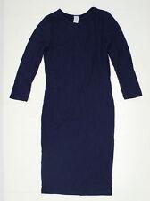 NEW Esty Ladies Stretch Long Sleeve Dress Navy Large 04849