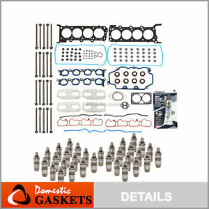 Head Gasket Set Head Bolts Lifters Fit 03-04 Ford Mustang 4.6 32V VIN R