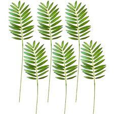 Pack of 6 Artificial Palm Leaves - Decorative Foliage - Pogonatherum Palm Leaf