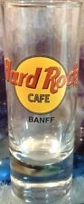 "Hard Rock Cafe Banff 4"" Shot Glass Cordial Classic Hrc Logo Black Text Glassware"