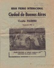 § BUENOS AIRES - CIRCUITO PALERMO - 8 pag. notizie in spagnolo elenco piloti