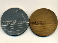 Israel Off. Award Medal:Silver & Bronze * Oil Refineries LTD * 1978, 935/115g