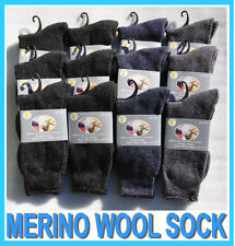 12 PAIRS NEW MENS MERINO FINE WOOL BLEND WOOLEN SOCK SIZE 11-14