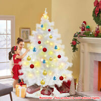 6ft White Artificial Christmas Tree, Full Tree, with Metal Stand 600 Branches