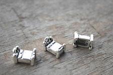 15pcs--bed Charm, Antique Tibetan Silver Tone 3D bed Pendants 18x11x4mm