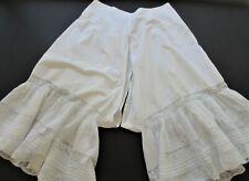 """Antique Victorian Split Leg Bloomers/Pantaloons W/Valenciennes Lace Trim """"Alice"""""""
