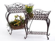 Blumenständer Metall Antik 18216 Blumenbank Avis 2 Set Schmiedeeisen Blumenregal