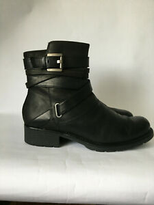 Russell And Bromley Black Leather With  Buckles Very Good Condition.Size 7  / 40