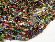 "24 STRANDS ASSORTED GLASS BEADS LOT 36"" STRANDS  (NCH-65)"