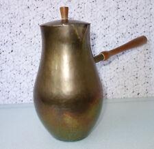 Karl Raichle, Meersburg Mocha Kettle Hand Hammered Brass BAUHAUS Art Deco German