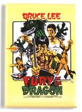 Fury of the Dragon FRIDGE MAGNET (2 x 3 inches) movie poster bruce lee