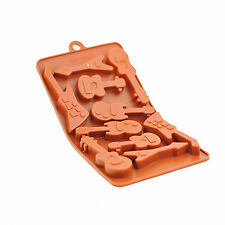 Silicone Chocolate Mould Tray Round Icing Craft Cake Jelly Baking Ice Guitar
