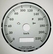 5H Harley Davidson KM/H Kilo Speedometer Silver Gauge Face 09392235