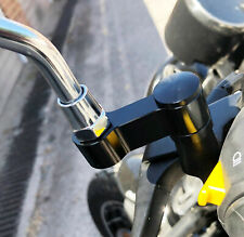 10mm Motorcycle Mirror Riser Extender Adapter Mounts Arm Motorbike Pair