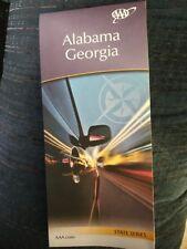 ALABAMA GEORGIA STATE SERIES HIGHWAY MAP AAA 11/17-2/19 NEW