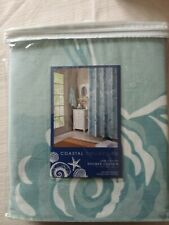 "Coastal Collection 100% Cotton Shower Curtain 72""x72"" New"