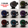 60mm Turbo Boost Pressure Pointer Gauge Meter Smoked Dials  Turbocharger LED