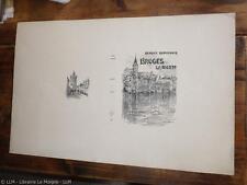 1900.Bruges la morte (couverture seule état imprimeur neuf).Rodenbach