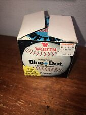 Vintage Worth Blue Dot Poly X Solid Core Official Softball In Box