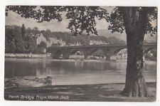 Perth Bridge From North Inch Perthshire Vintage Postcard 882b