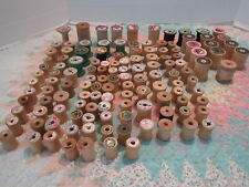 Wood Thread Spools Lot of 125+ Only 2 with Thread