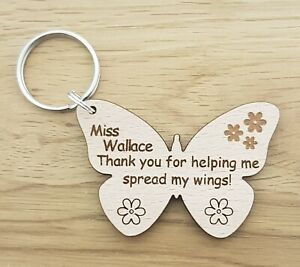 PERSONALISED KEYRING SCHOOL CHRISTMAS GIFT FOR TEACHER GIFTS NURSERY END OF YEAR
