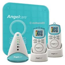 Angelcare DELUXE AC401 Movement Breathing Sound BABY MONITOR Twin 2 Parent Units