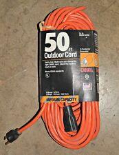 EXTENSION CORD 50FT 16-3 SJTW 13A 125V 1675W Medium Duty 03354 CAROL Outdoor NEW