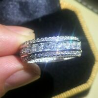 2.00 Ct Round Cut D/VVS1 Diamond Full Eternity Wedding Band Ring 14k White Gold