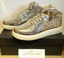 NIKE AIR FORCE ONE 1 liquid metal argent US9 UK8 tz 652849-092 métallique 2014