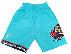 Mitchell & Ness Teal NBA Vancouver Grizzlies 96-97 Road Swingman Shorts