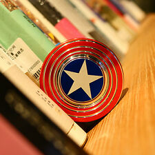 Captain America 3D Fidget Hand Spinner Shield Toy EDC Focus ADHD Autism Adult