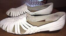 Softspots 951304 Trinidad Huarache White Leather Strappy Sandal Shoe Sz 9WW/9 WW