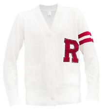 1950s Vintage Cardigan Boyfriend Button Sweater Unisex -Black, Ivory, White, Red