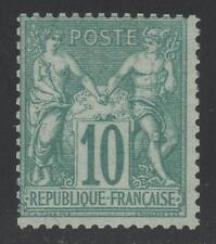 "FRANCE STAMP TIMBRE N° 65 "" SAGE 10c VERT TYPE I "" NEUF xx TB K436"