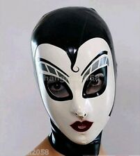 100% Latex Gummi Rubber Mask Hood 0.48mm Catsuit Bodysuit Party Catsuit suit