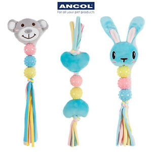 Ancol Puppy Dog Teething Gentle Soft Comfort Toy Bunny Bear Heart Cute